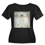 Vitruvian Man Women's Plus Size Scoop Neck Dark T-