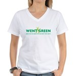 Went Green Alien Women's V-Neck T-Shirt