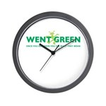 Went Green Alien Wall Clock