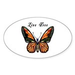 Butterfly Sticker (Oval 50 pk)