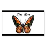 Butterfly Sticker (Rectangle 50 pk)