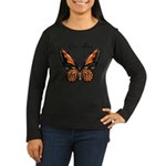 Butterfly Women's Long Sleeve Dark T-Shirt