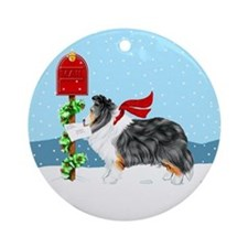 TriColor Sheltie Mail Keepsake (Round)