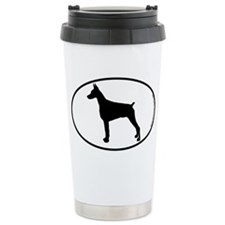 Doberman Pinscher SILHOUETTE Ceramic Travel Mug