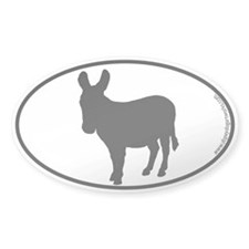 Donkey SILHOUETTE Oval Decal