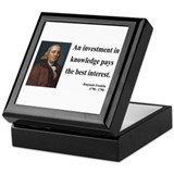 Benjamin Franklin 21 Keepsake Box
