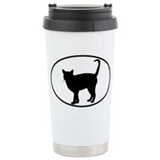 Cat Standing SILHOUETTE Ceramic Travel Mug