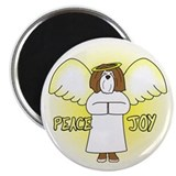 Chocolate Peace Joy Havanese Christmas Magnet