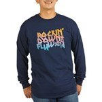 Rockin' Down the Flyway Long Sleeve Dark T-Shirt