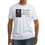 Benjamin Franklin 25 Fitted T-Shirt