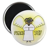 Black & Tan Peace Joy Borzoi Christmas Magnet