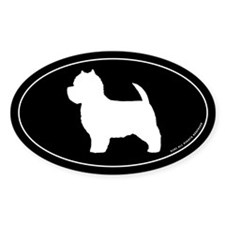 West Highland White Terrier Oval Sticker (10 pk)