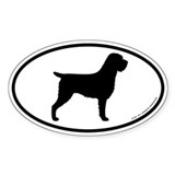 Wirehaired Pointing Griffon Oval Sticker (50 pk)