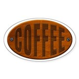 Wood Coffee Plaque Decal