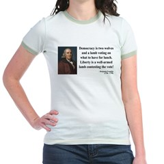 Benjamin Franklin 2 Jr. Ringer T-Shirt