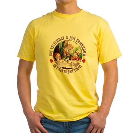 THE MAD HATTER'S RULES Yellow T-Shirt