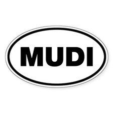 MUDI Oval Sticker (10 pk)