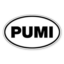 PUMI Oval Sticker (10 pk)