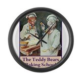 TEDDY BEAR BAKING SCHOOL Large Wall Clock