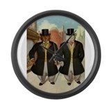 ROOSEVELT BEARS ON THE TOWN Large Wall Clock