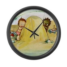 WHY CAN'T WE BE FRIENDS? Large Wall Clock