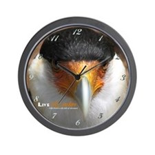 Live Adventure Crested Caracara Wall Clock