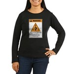 Overly curious Women's Long Sleeve Dark T-Shirt