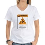 Overly curious Women's V-Neck T-Shirt