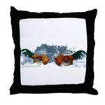 Flared Hackles Throw Pillow