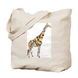 Multicolored Giraffe Tote Bag