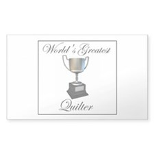 World's Greatest Quilter Rectangle Sticker 50 pk)