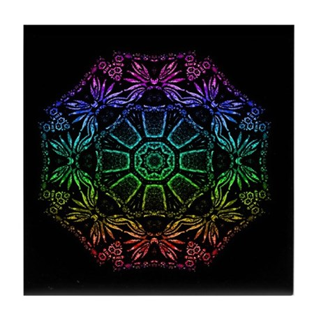 Rainbow Wheel Tile Coaster
