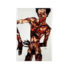 Egon Schiele Self-Portrait Rectangle Magnet