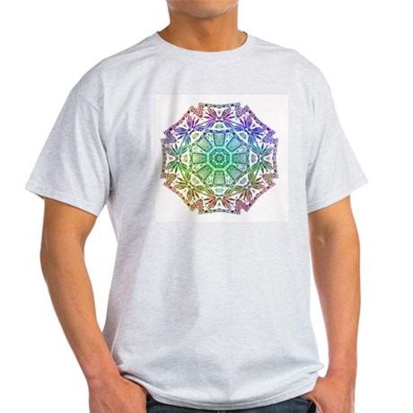Rainbow Wheel Ash Grey T-Shirt