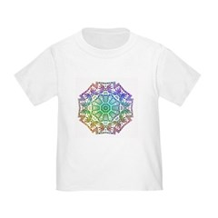 Rainbow Wheel Toddler T-Shirt