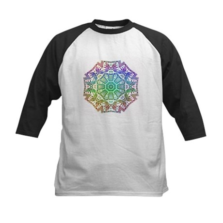Rainbow Wheel Kids Baseball Jersey