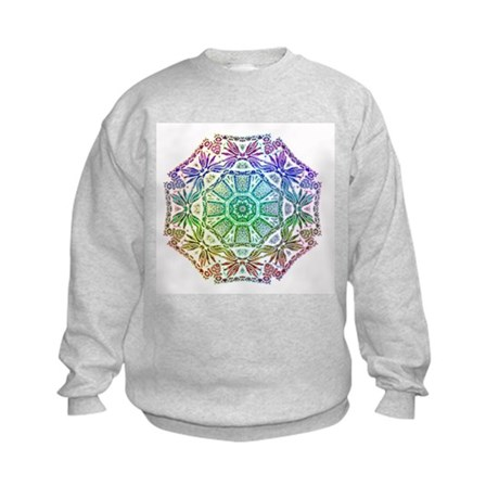 Rainbow Wheel Kids Sweatshirt