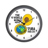 Tuba Solos Wall Clock