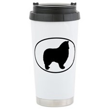 Collie (Rough) SILHOUETTE Ceramic Travel Mug