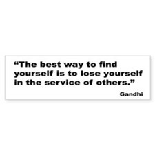 Gandhi Find Yourself Quote Bumper Bumper Sticker