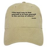 Gandhi Find Yourself Quote Baseball Cap