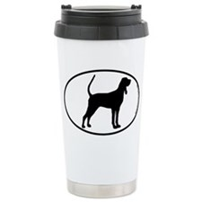Black and Tan SILHOUETTE Ceramic Travel Mug