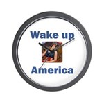 Wake Up America Wall Clock