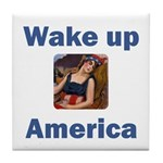 Wake Up America Tile Coaster