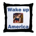 Wake Up America Throw Pillow