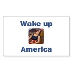 Wake Up America Rectangle Sticker 50 pk)