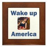Wake Up America Framed Tile