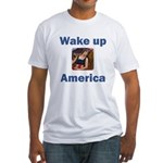 Wake Up America Fitted T-Shirt