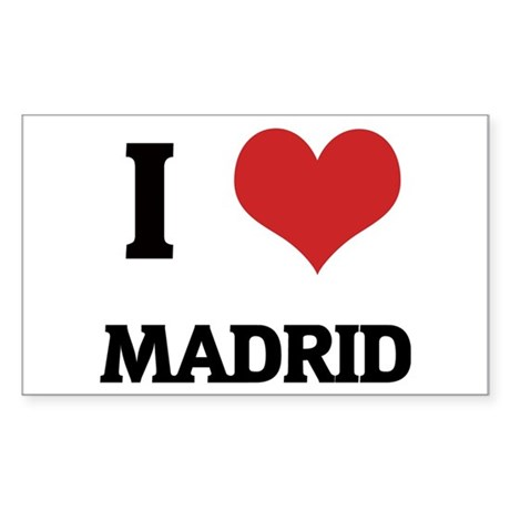 I Love Madrid Rectangle Sticker