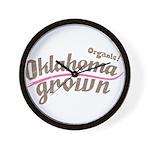 Organic! Oklahoma Grown! Wall Clock